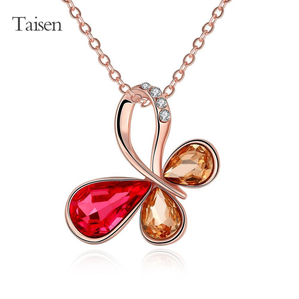 pendants for lovers rhinestone necklace 2016 necklace women jewelry necklace decoration top rose gold chain with pendants(China (Mainland))