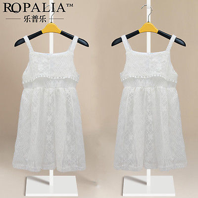 White Fairy Baby Girls Princess Party Dress Lace Summer Gown Formal Dress 2-8Y(China (Mainland))