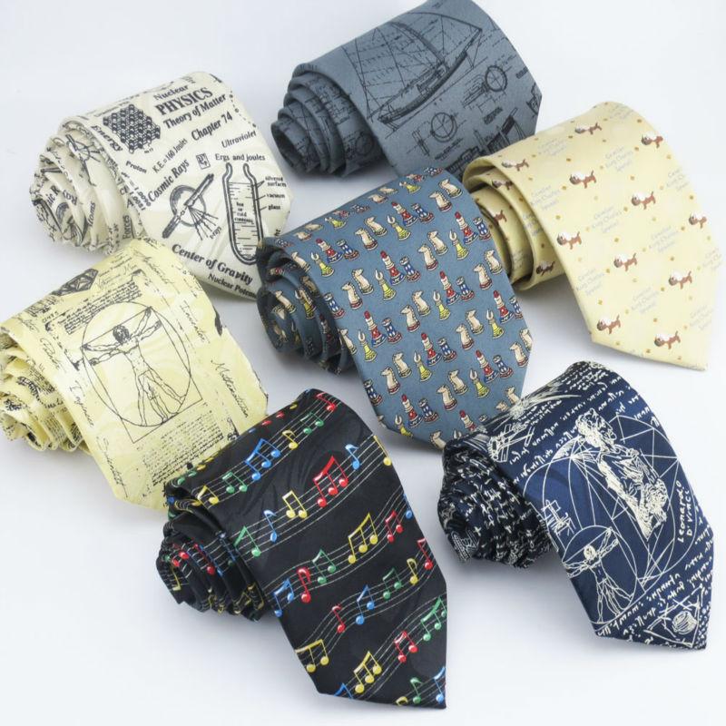 New men's printing necktie Mathematical symbols and cartoon sailing pattern design Man formal clothing 9cm tie(China (Mainland))