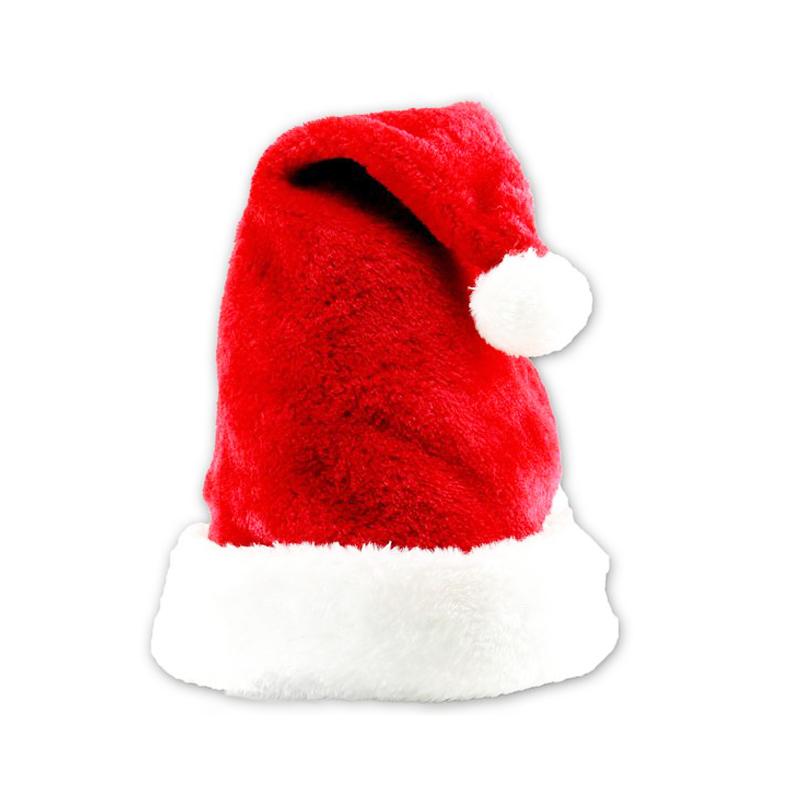 New Velvet Plush Santa Claus Hat Comfort Liner Christmas Xmas Costume Holiday Topper(China (Mainland))