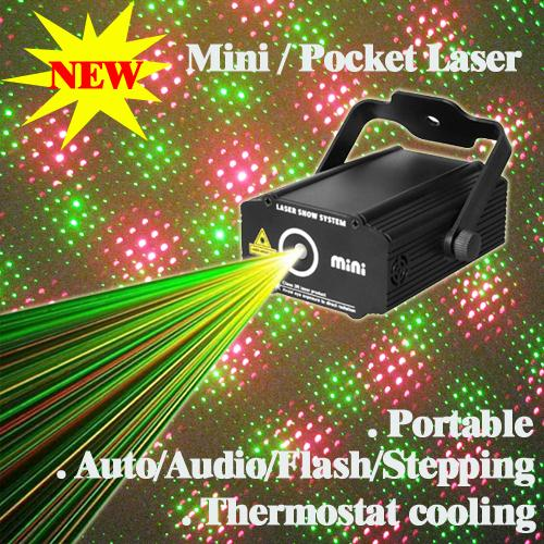 HOT Mini Pocket Sound Active Green Red RG Meteor Laser Stage lighting Projector DJ Disco Show Wedding Dance Bar Party Light Xmas - suny Official Store store