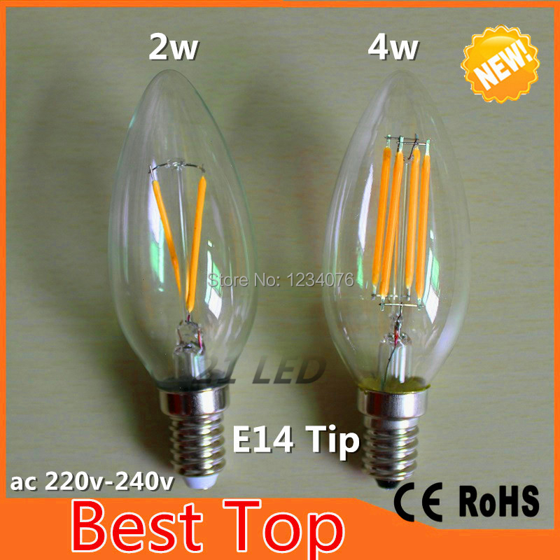 New Design 2W 4W E14 220V 240V AC E14 C35 L