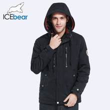 ICEbear 2017 Removable Hat Zipper Design Fashion Autumn Spring Designer Trench Coat Men Jacket Comfortable Parka 17MC302(China (Mainland))