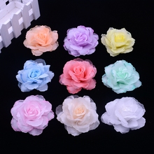 Buy 50pcs/lot 6.5cm silk rose corsage wedding decoration DIY artificial rose garland decorated artificial flowers real touch roses for $8.81 in AliExpress store