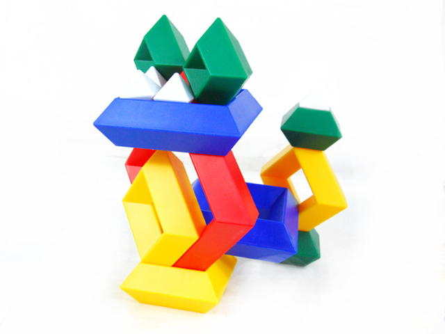 Guanghuang puzzle toy ni blocks advanced magicaf multicolour rhombus blocks