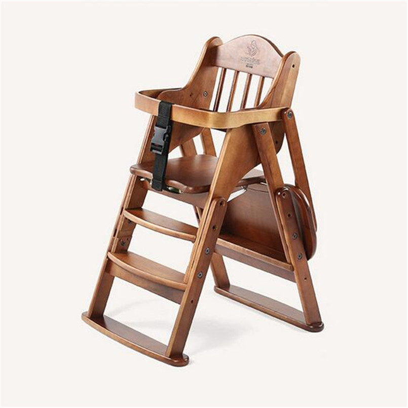 High Chairs wood Luxury Baby Trend Sit-right Baby High Chair Portable Feeding Chair Easy Folding Baby Booster Seats