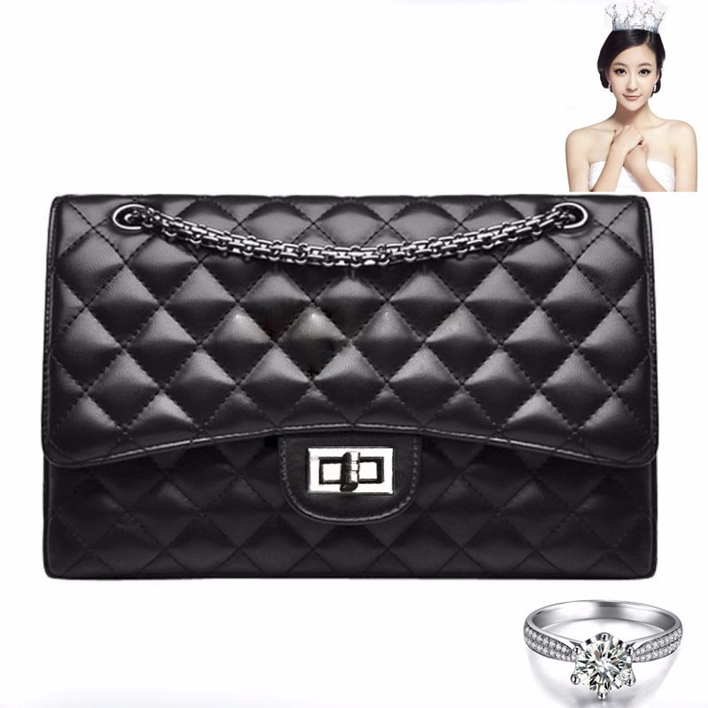 Glamourous Chain Bag Chic Quilted Bag Women Diamond Lattice Ladylike Small Shoulder Bag Ladies Trendy Casual PU Crossbody Bag