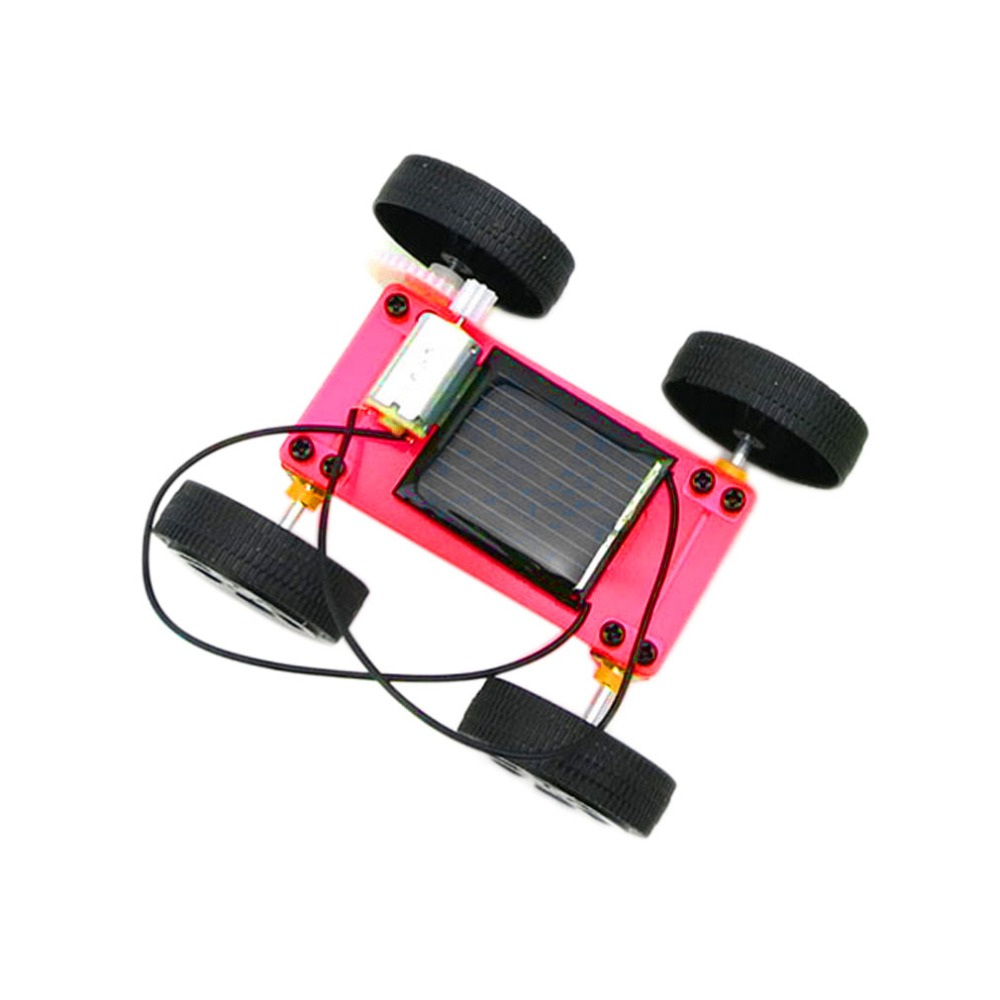 arrival 1pc Self assembly Mini Solar Powered DIY Car Kit Children Educational Toy Gadget Gift 3 colorest Hot Selling(China (Mainland))