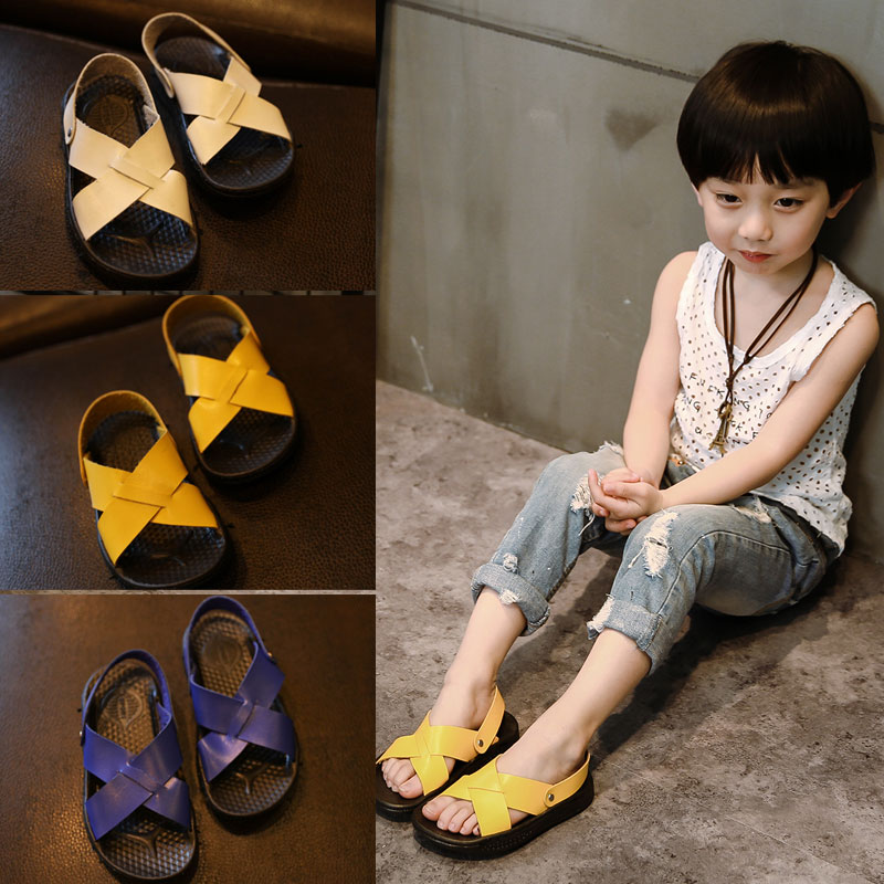 2016 Summer Kids Children sandals Boys beautiful shoes kids flat beach Sandals Baby Toddler Shoes wholesale tide sneakers B-703(China (Mainland))