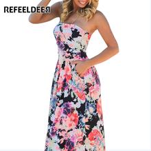 Buy Refeeldeer Women Summer Long Dress 2017 Summer Sundress Tunic Backless Strapless Floor Length Maxi Boho Beach Dress Robe Femme for $13.23 in AliExpress store