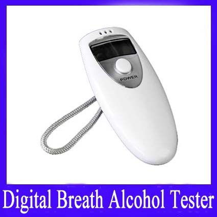 mini Alcohol Tester test meter (white) Digital Breath High accuracy. MOQ=1 Free shipping(China (Mainland))