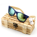 Men s Bamboo Wood Sunglasses in Vintage Style with Plastic Frame and Polarized UV Protection Colorful