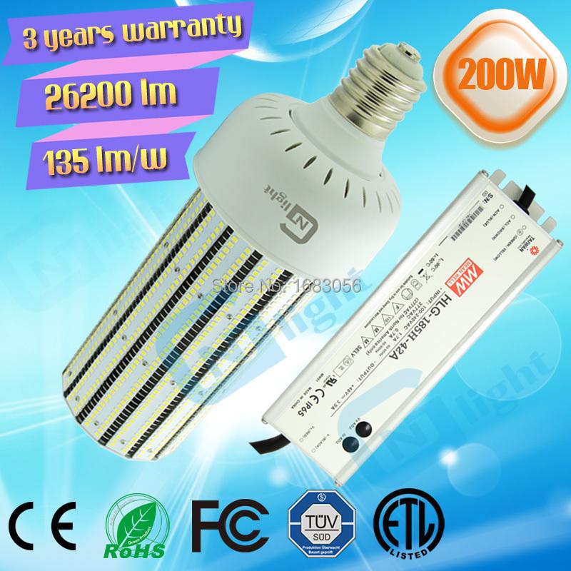 China factory LED high power E39 E40 high bay corn bulb led e40 200W(China (Mainland))