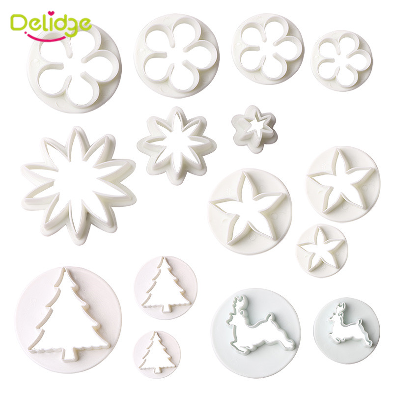 2PCS/3PCS/4PCS Many Kinds Of Plastic Cookie Mould DIY Fondant Cutter Biscuit Tool 3D Sugarcraft Cake Decorating Mold(China (Mainland))