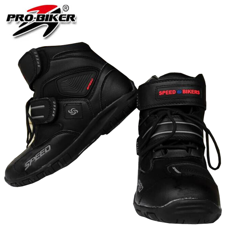 2015 Motorcycle Boots Brand New Pro-biker Speed Bikers Moto Racing Motocross Leather Shoes men women Black - LeiLei Co.,Ltd store