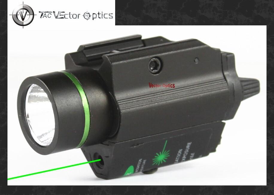Vectop Optics Doublecross Tactical LED Pistol Flashlight