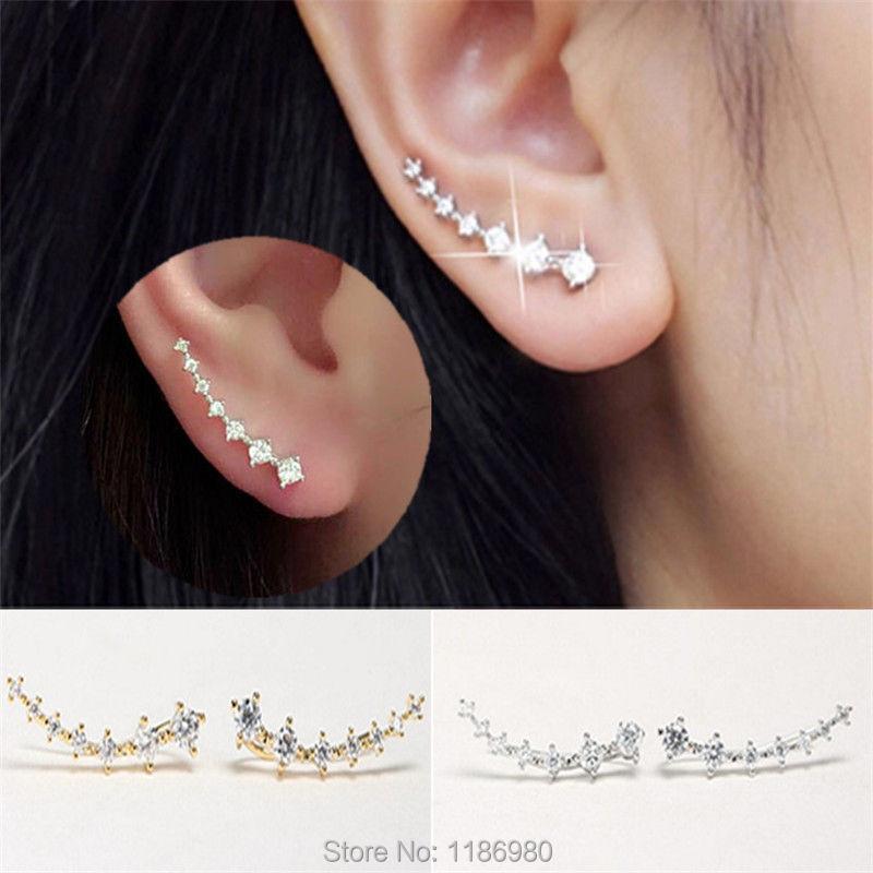 Gift Earrings Jewelry Stud Hook Crystal Rhinestone Gold Silver Ear Lady Fashion Women <br><br>Aliexpress
