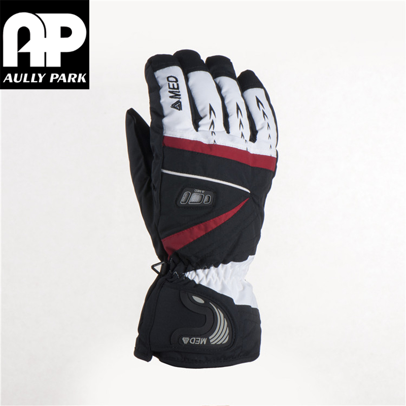 1 Pair Motorcycle Gloves Racing Waterproof Windproof Winter Warm Leather Cycling Bicycle Cold M/L/XL White/Black/Red(China (Mainland))
