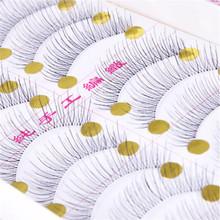 10Pairs Makeup Handmade Natural Fashion Sparse become warped and long False Eyelashes Eye Lashes 217 maquiagem