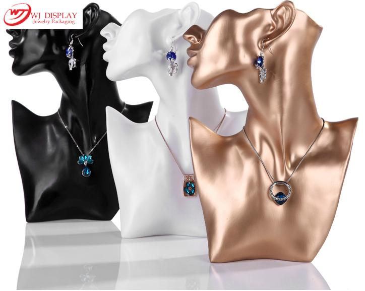 2015 New 11 Jewelry Necklace Earring Display Stand Bust Decor Figure Mannequin Model Jewelry Holder Organizer