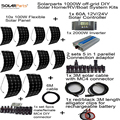 Solarparts off grid universal Solar System KITS 1000W flexible solar panel 1pcs 60A controller 2 sets