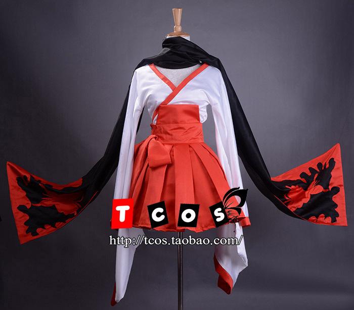 Free Shipping! Newest! Inu x Boku SS Shirakiin Riricho Atavistic Witch Kimono Cosplay Costume ,Perfect custom for you!