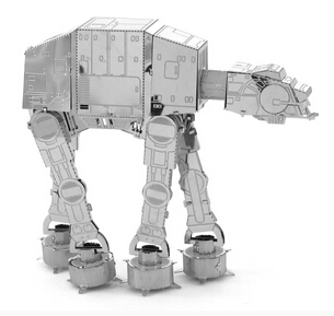 3D Metal Nano Puzzles AT-AT Imperial Walker Model Educational Toys DIY Metal Puzzle Toys,Free Shipping(China (Mainland))