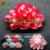Free shipping! 30pcs/lot 8cm garments shoes hats hair accessories hand made printed polka dot diy fabric flower
