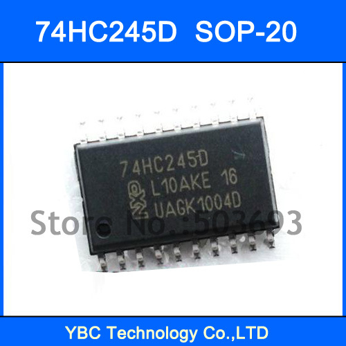 100PCS SMD 7.2MM 74HC245 74245 74HC245D Octal Bus Transceiver (3-State) SOP-20(China (Mainland))