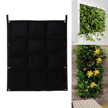 Buy 12 Pockets Vertical Gardening Flower Planter Wall-mounted Wall Hanging Bags Grow Bag Felt 66*80cm for $11.56 in AliExpress store