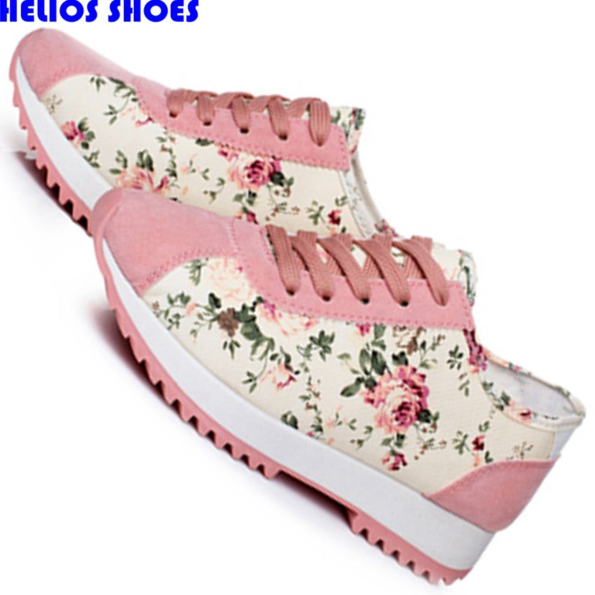 outdoor ultra light flat casual shoes women leisure student ladies floral trainers shoes women flat sole girls casual shoes 175k(China (Mainland))