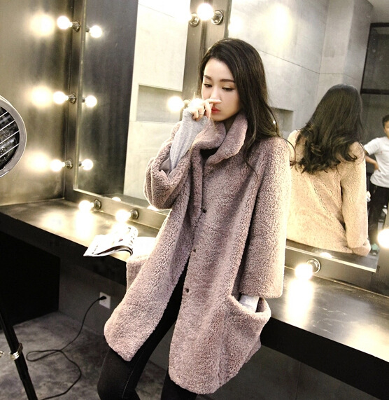 Aliexpress.com : Buy Australia Merino Sheep Fur Long Coat Women