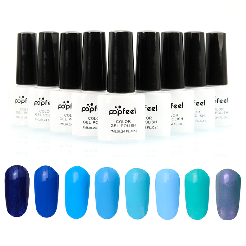7 ml Romantic Blue Permanent Nail Polish Uv Gel Apply With Led Lamp Hot Sales Sapphire Varnish NA101B(China (Mainland))