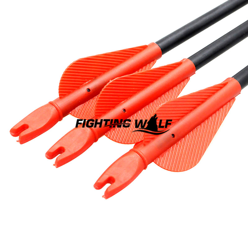 12pcs 80 5cm Glass Fiber Arrow with Plastic Red Feather for Archery Shooting Target Hunting with