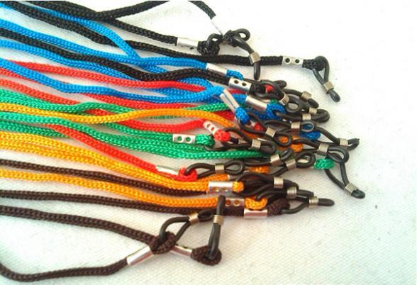2014 new Colorful Eyewear Nylon Cord Reading Glass Neck Strap Eyeglass Holder Rope 12 NEW Lanyards(China (Mainland))