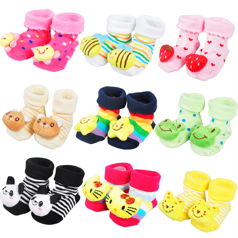Kids Baby Unisex Newborn Animal Cartoon Socks Cotton Shoes Booties Boots 0-10 Months(China (Mainland))