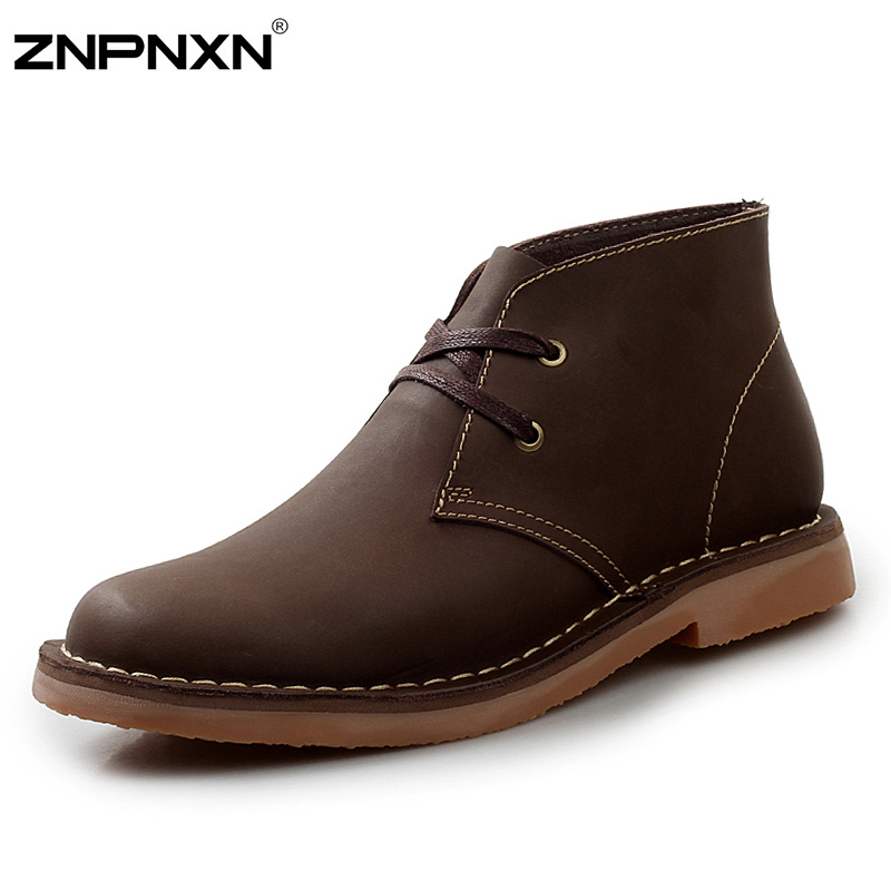 Size 38-44 Handmade Genuine Leather Summer Boots Best Quality Cowhide Men Boots Ankle Motorcycle Boots For Men Botas Masculinos