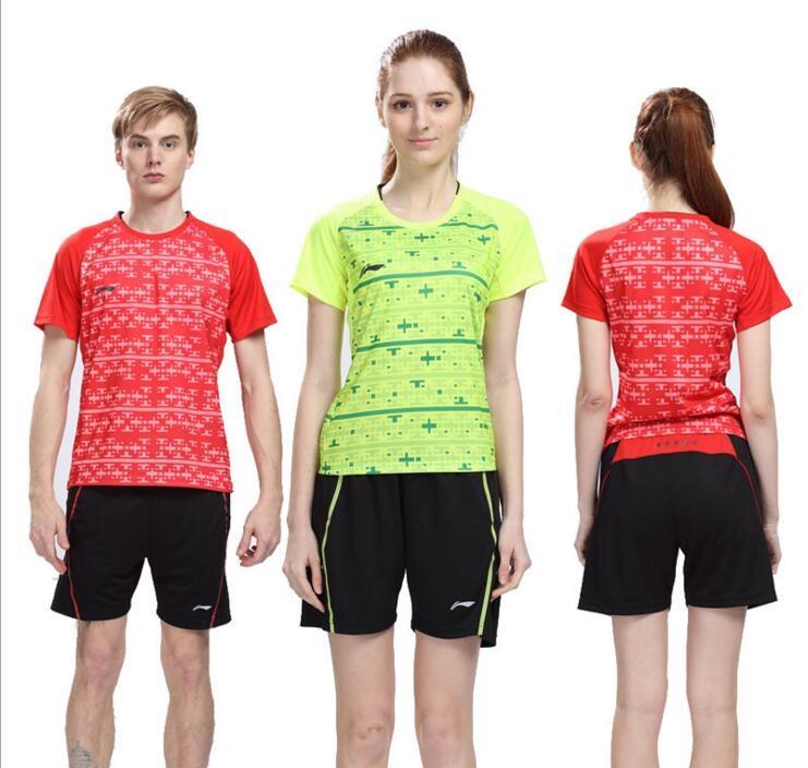New 2016 Li-Ning badminton T-shirts, table tennis sport Shirts shorts, polyester breather absorption badminton jersey clothing(China (Mainland))
