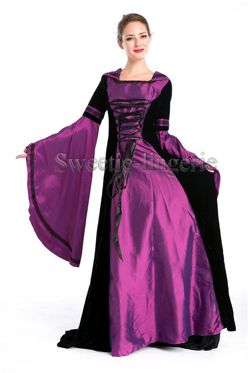 Medieval Wedding Dresses Mthat Are Purple 118