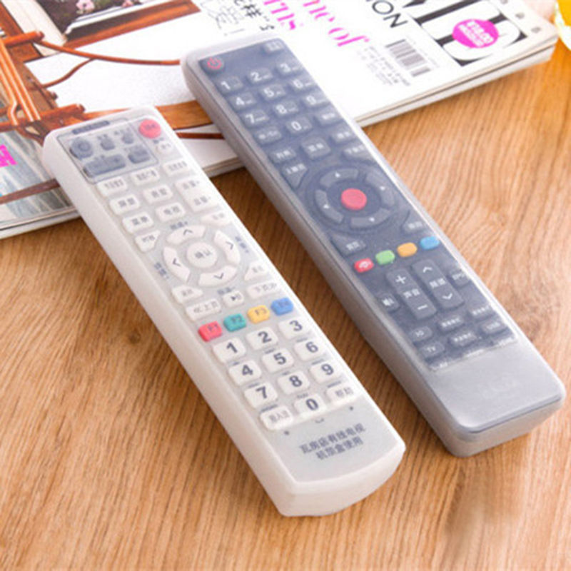 Silicone TV Remote Control Protective Bag Air Condition Remote Control Case Dust Protective Holder Waterproof Storage Bag(China (Mainland))