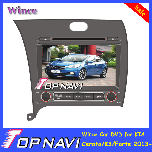 2015 Top DHL Free Shipping Wince Car Mobile Multimedia DVD Player Radio For KIA Cerato/K3/Forte 2013- With GPS Navi BT Free Map<br><br>Aliexpress