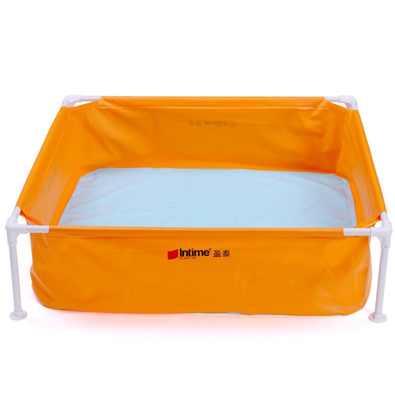 2016 Children's Baby Swimming Pool Piscina Infant Portable Outdoor Basin Bathtub for Bath Fishing Bracket Pool Size 128*128*35cm(China (Mainland))