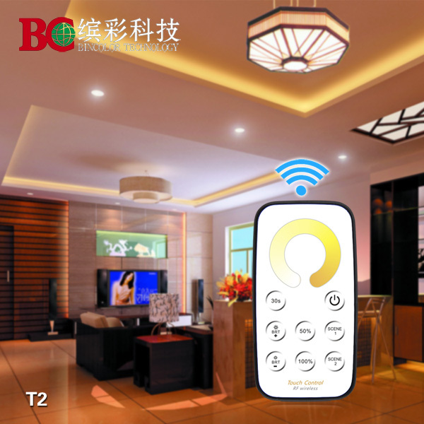 T2+R3 Mini led CT controller color temperature control with touch remote control<br><br>Aliexpress