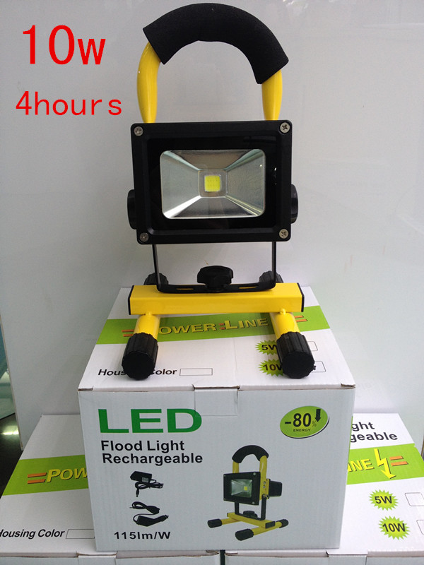 Super bright 10w led floodlight rechargeable Emergency light can lighting 4 hours continuously white light<br><br>Aliexpress