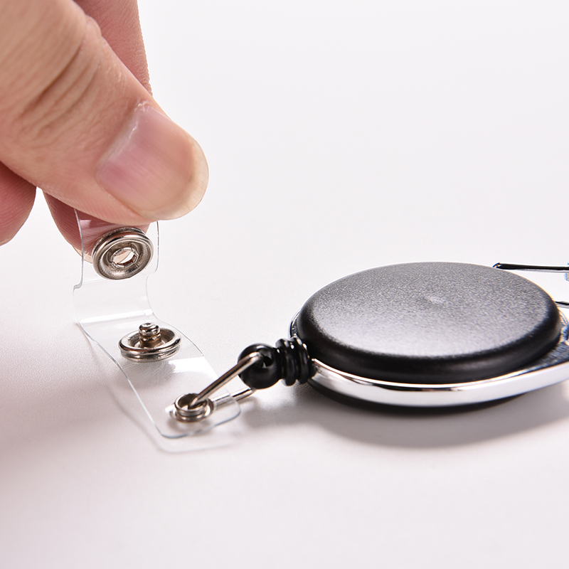 High Quality Black Pull Key Ring ID Card Badge Tag Belt Clip Chain Holder Metal Housing Plastic Covers(China (Mainland))