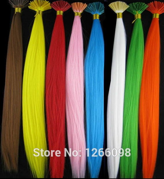 60pcs Hot Selling non-trace synthetic hairpiece 16 inch straight Hair Extensions 12 colors avaiable with free beads and hook