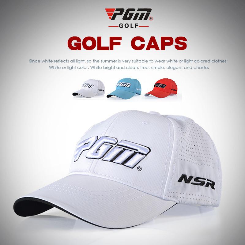 Pgm Brand golf peaked cap golf ball casquette cap men summer sport punch breathable hat  sun topee topi top cap chapeu masculino
