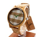 Brand Designer Bamboo watch pastoralism pastoral dial face wooden watches for women man accept customization OEM