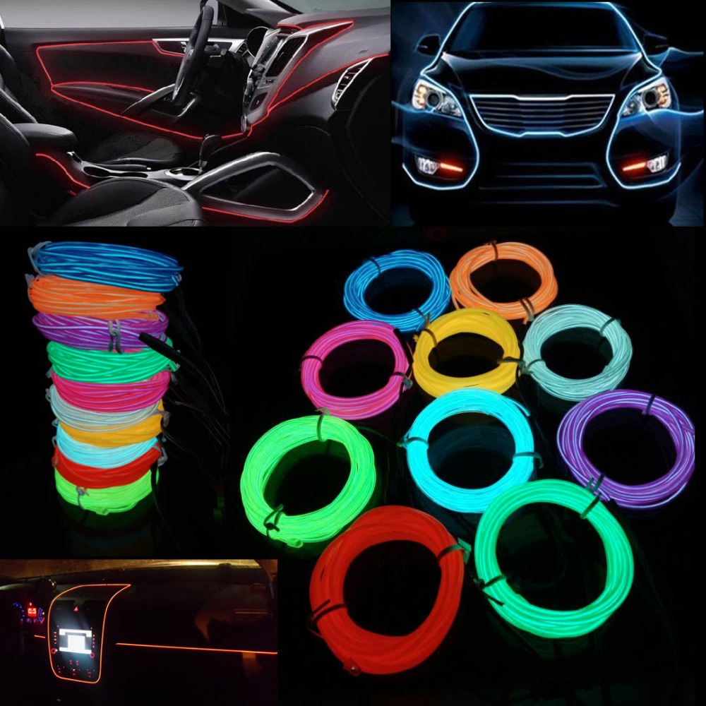 buy 10 color 3m car decorative led thread sticker indoor decals tags holiday. Black Bedroom Furniture Sets. Home Design Ideas
