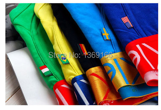 High Quality!underwear men boxers cueca shorts mens boxer underwear male sexy transparent pants men's boxers Country Flag Style(China (Mainland))